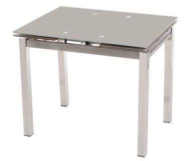 Стол раскладной обеденный T-231-8 серый 90(+60)*70*75см