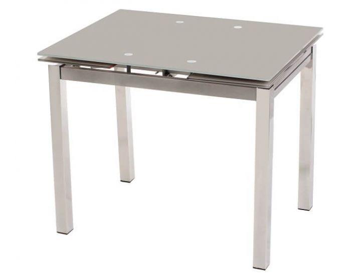 Стол стеклянный раскладной обеденный T-231-8 серый 90(+60)*70*75см