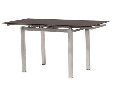 Стол раскладной стеклянный T-231-8 коричневый 90 (+60)*70*75 см