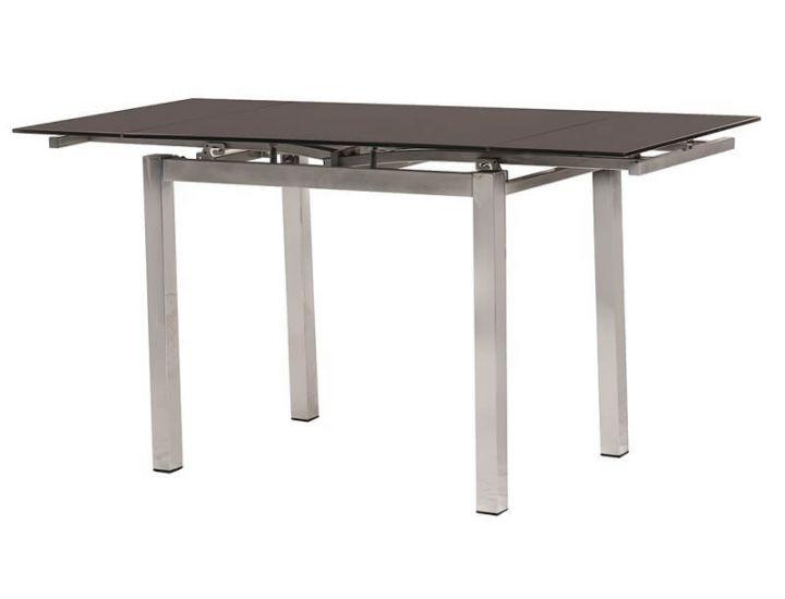 Стол стеклянный обеденный T-231-8 коричневый 90 (+60)*70*75 см