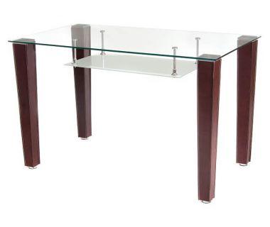 Стол стеклянный T-285 прозрачный 120*70*75см