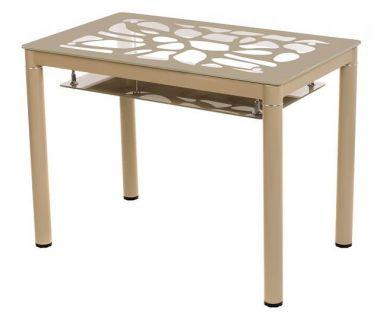 Стол стеклянный T-300-2 кофе мокко 100*60*76см