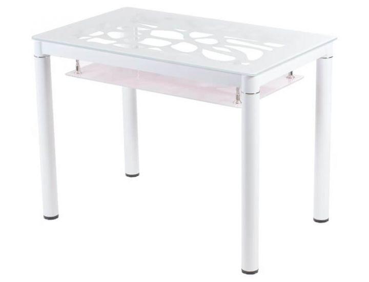 Стол стеклянный обеденный T-300-2 снежно-белый 100*60*76см