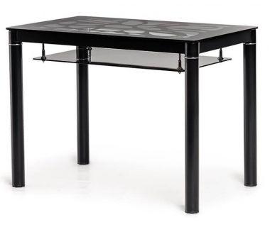 Стол стеклянный T-300-2 черный 100*60 см