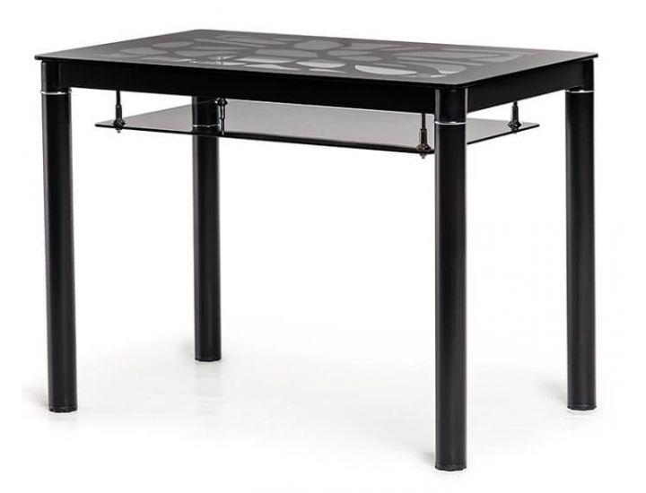 Стол стеклянный обеденный T-300-2 черный 100*60 см