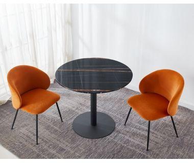 Стол обеденный T-320 черная магма 90 см