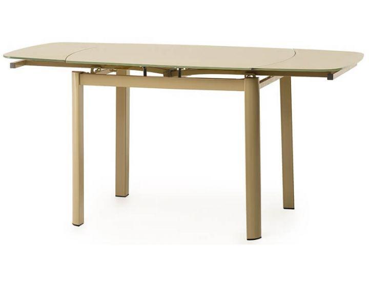Стол стеклянный обеденный T-600-2 кофе-мокко 100(+60)*70*75 см