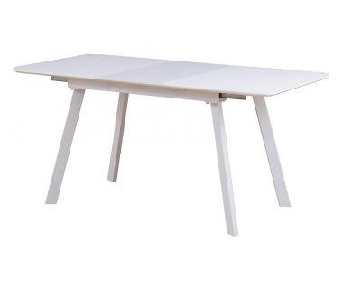 Раскладной стол TM-170 матовый белый 120 (+40)*80*76 см