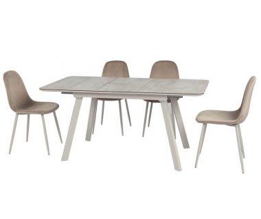Раскладной стол TM-171 серый агат 120 (+40)*80*76 см