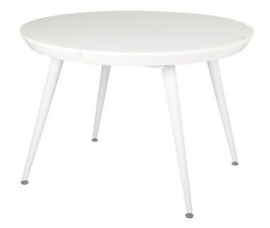 Раскладной круглый стол TM-175 белый матовый VETRO (Ветро)