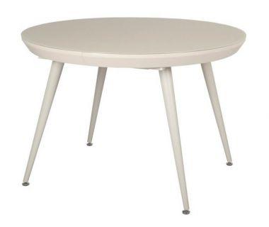 Раскладной круглый стол TM-175 капучино матовый VETRO (Ветро)