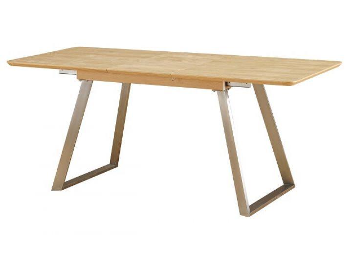 Раскладной стол TM-181 дуб натуральный 140 (+40)*80*76 см
