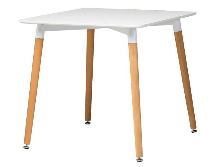 Стол обеденный  деревянный TM-30 белый 80*80*76см