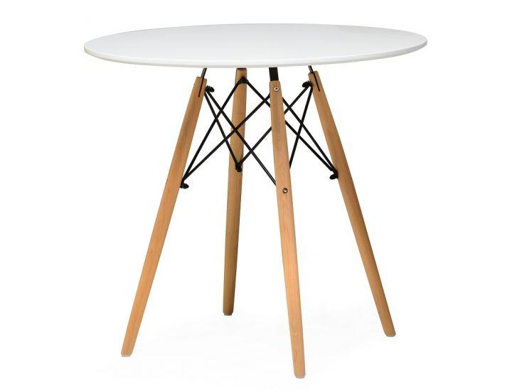 Стол обеденный  круглый TM-35 белый 80 см