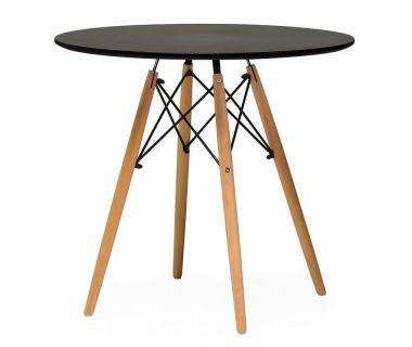 Стол обеденный TM-35 черный 80 см