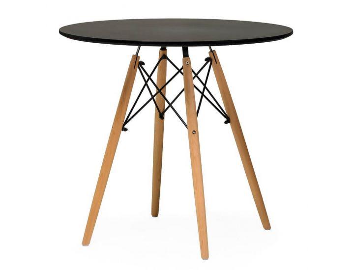 Стол обеденный  круглый TM-35 черный 80 см