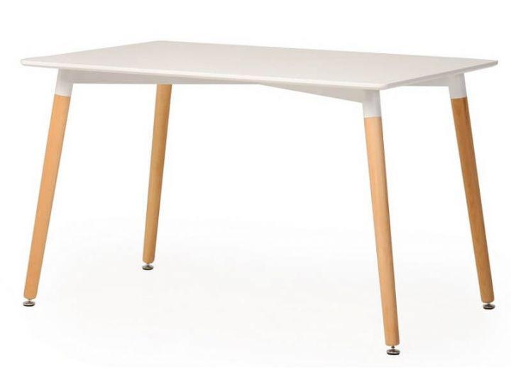 Стол обеденный  деревянный TM-36 белый 120*80 см