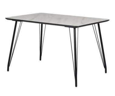 Стол обеденный TM-47 белый мрамор 120*80 см