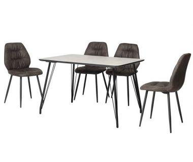 Стол обеденный TM-47 бетон 120*80 см
