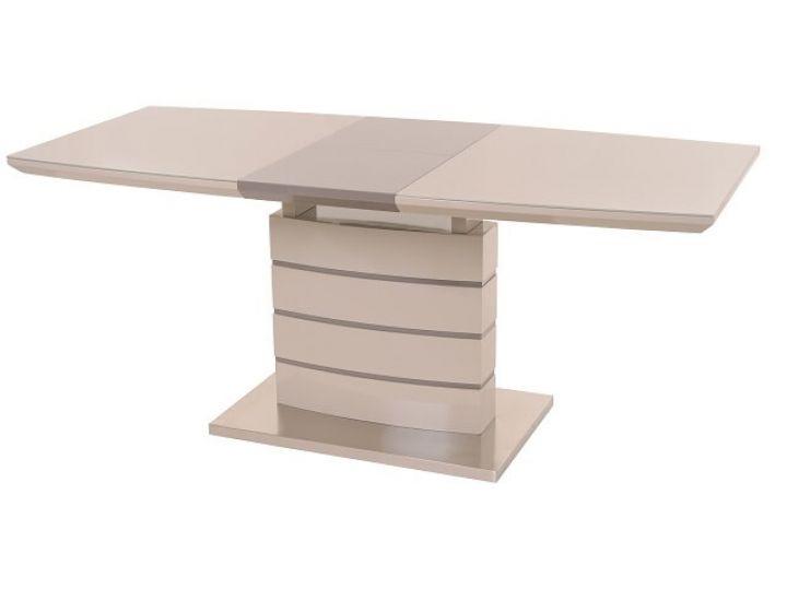 Раскладной стол стеклянный TM-50 капучино+латте 140(+40)*80*76см