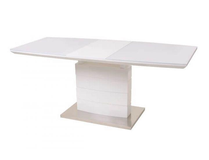 Раскладной стол стеклянный TM-50-1 белый 120(+40)*80*76см