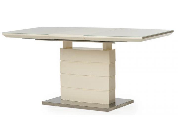 Стол стеклянный обеденный TM-50-1 молочный 120 (+40)*80*76 см