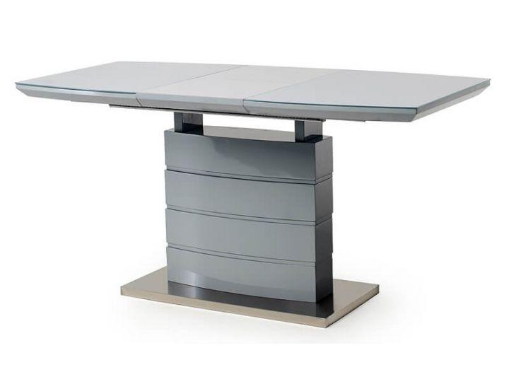 Стол стеклянный обеденный TM-50-2 серый 110 (+40)*70*76 см
