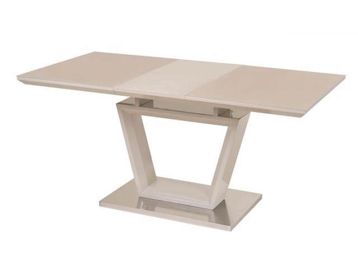 Раскладной стол стеклянный TM-51-1 капучино 120(+40)*80*76см