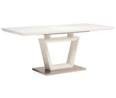 Раскладной стол TM-51 белый 140(+40)*80*76 см