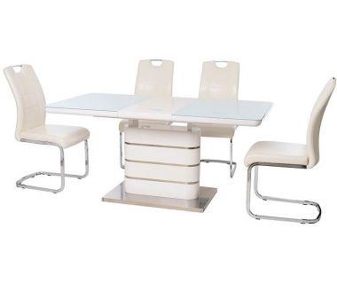 Раскладной стол TM-52-1 белый 120(+40)*80*76 см