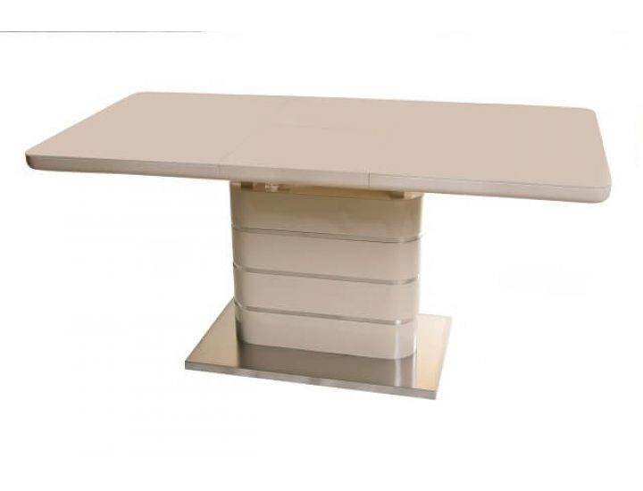 Раскладной стол стеклянный TM-52-1 бежевый 120(+40)*80*76см