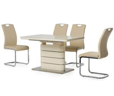 Раскладной стол TM-52-1 молочный 120 (+40)*80*76 см