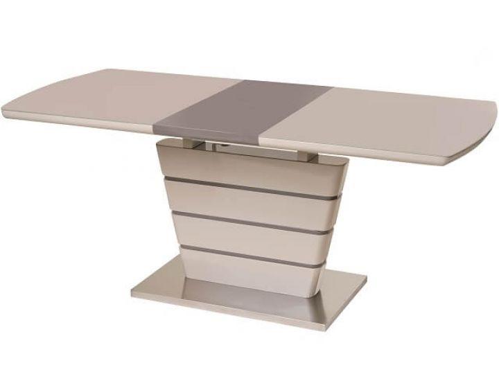 Раскладной стол стеклянный TM-55 капучино + латте 140(+40)*80*76 см