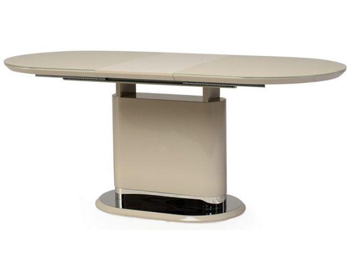 Раскладной стол стеклянный TM-56 капучино 140(+40)*80*76 см