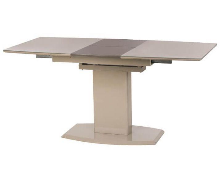 Раскладной стол стеклянный TM-58 капучино-латте 120(+40)*80*76 см