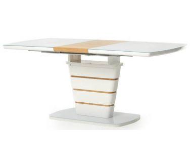 Раскладной стол TM-59-1 белый, дуб 120 (+40) * 80 * 76 см