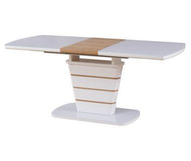 Раскладной стол TM-59 белый-дуб натуральный 140 (+40)*80*76 см