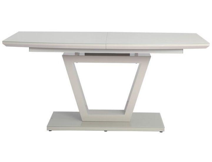Раскладной стол стеклянный TM-63 капучино 160 (+60)*90*76 см