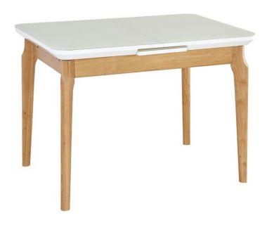 Стол раскладной TM-72 белый матовый 105 (+25) * 75 * 75 см