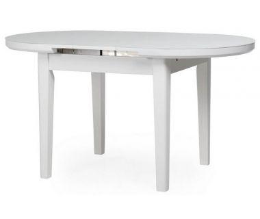 Стол раскладной матовый TM-75 снежно-белый 120 (+25)*80*75 см
