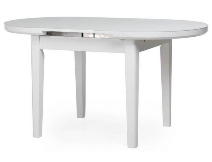 Стол стеклянный обеденный матовый TM-75 снежно-белый 120 (+25)*80*75 см