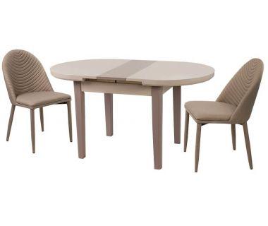 Стол раскладной TM-75 капучино-латте 120 (+25)*80*75 см