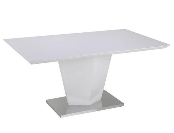 Стол стеклянный обеденный TM-77 белый 160*90*76 см