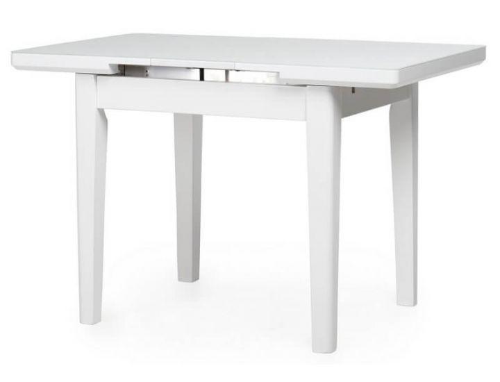Стол стеклянный обеденный TM-79 снежно-белый 90 (+25)*70*75 см