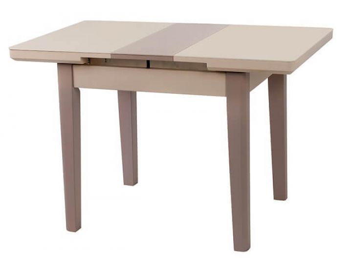 Стол стеклянный обеденный TM-79 капучино-латте 90 (+25)*70*75 см