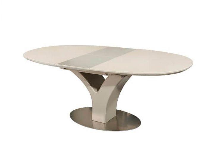 Раскладной стол стеклянный TML-512 бежевый 160(+40)*95*76 см