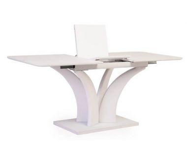 Раскладной стол матовый TML-515 белый 140(+40)*80*76 см