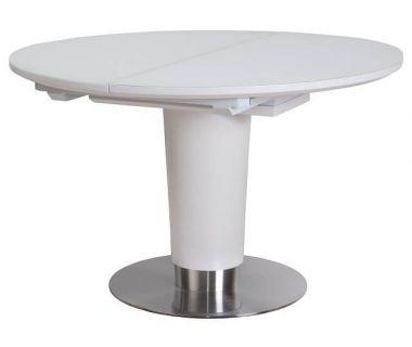 Раскладной стол TML-518 белый сатин 120(+40)*120*76 см