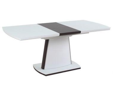 Раскладной стол TML-520 белый сатин + венге 140(+40)*80*76 см