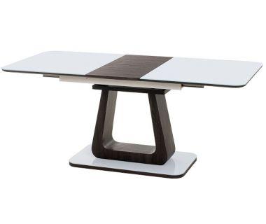 Раскладной стол TML-521 белый + венге 140(+40)*80*76 см